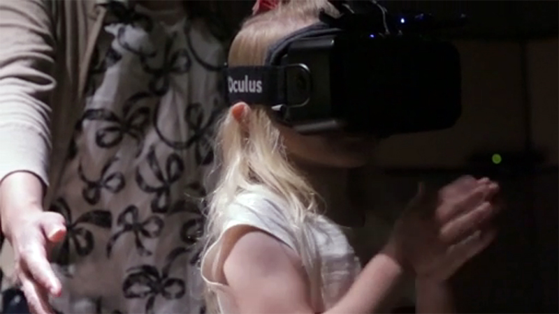 Child experiencing VR